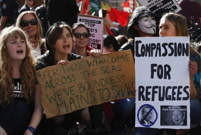 Protestas en Australia por la política gubernamental sobre personas refugiadas
