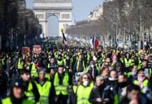 Gilets jaunes en País el 23 de febrero de 2019