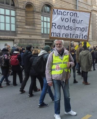 gilets jaunes Macron ladrón