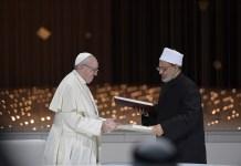 El Pontífice Y El Gran Imán De Al-Azhar Firman El Documento Sobre Fraternidad Humana I © Vatican Media