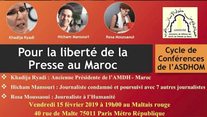 Paris Marruecos libertad prensa asdhom