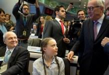 Jean-Claude Juncker con Greta Thunber