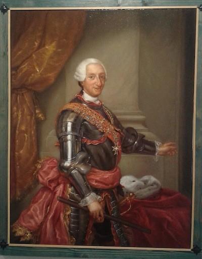Autor: Mengs. Siglo XVIII. Título de la obra: Carlos III Copista: Román Blázquez García