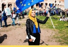 Yasmine Ouirhrane subió esta imagen tras conocer que había ganado el Premio Juventud Europea.
