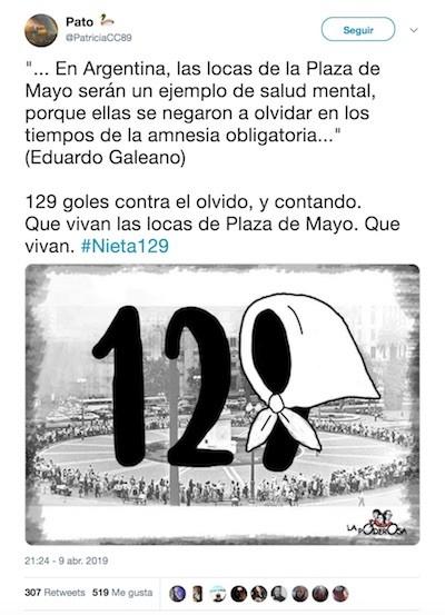 Abuelas de Plaza de Mayo encuentran al nieto 129