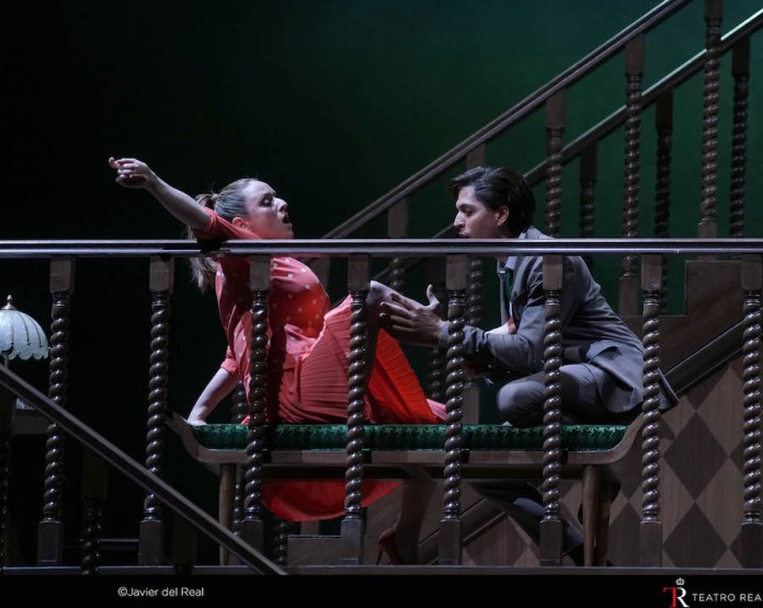 Falstaff. Nanetta y Fenton. Foto Javier del Real