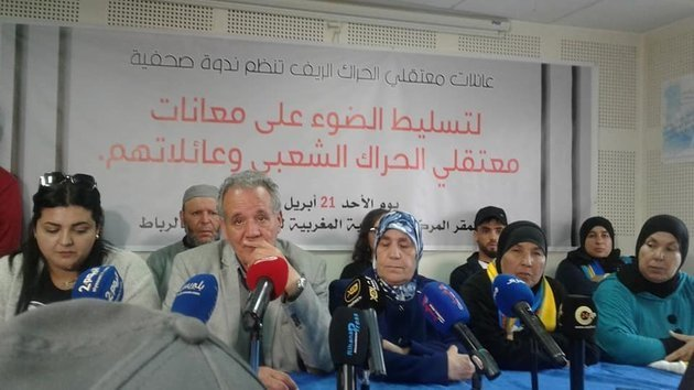 Familiares de los condenados del Rif comparecen ante la prensa en Rabat