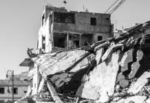 OCHA. Giles Clarke. Tripoli. Edificos destruidos