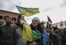 Manifestación a favor de los presos del Rif el pasado domingo 21 en Rabat