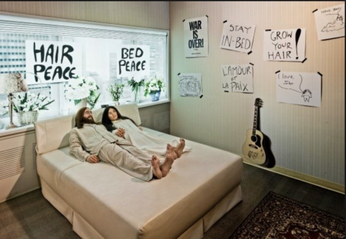 bed-in for peace John Lennon y Yoko Ono