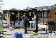 Imagen de archivo del campamento gitano de Giugliano