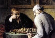 Los jugadores de ajedrez Honoré Daumier 1863