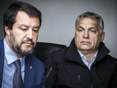Salvini y Orban, líderes de los racistas y xenófobos europeos
