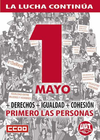 UGT CCOO 1MAY2019 cartel