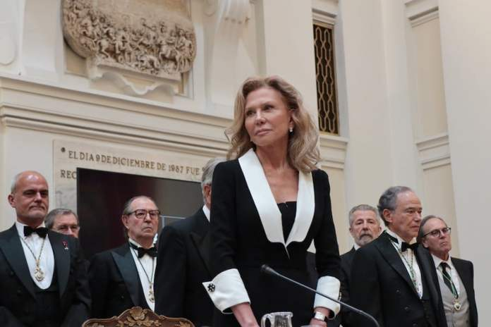 Alicia Koplowitz en la Real Académica de Bellas Artes de San Fernando, 23 de junio de 2019