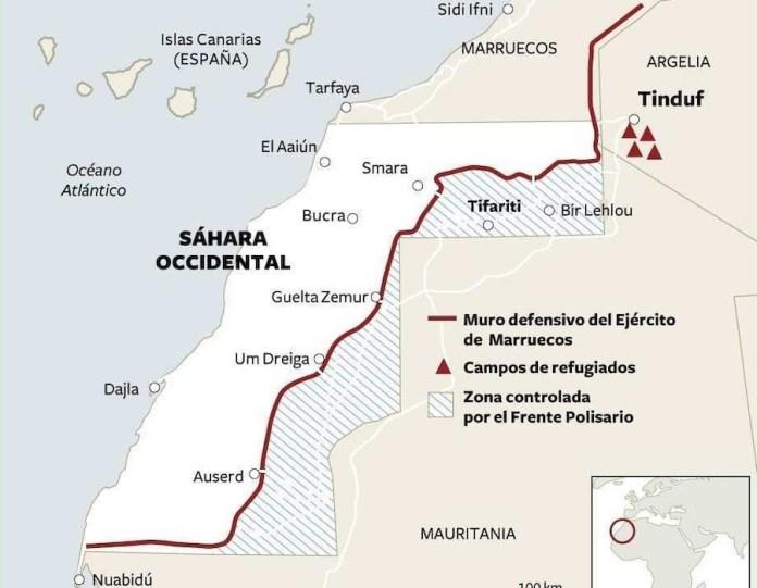 Mapa Sahara
