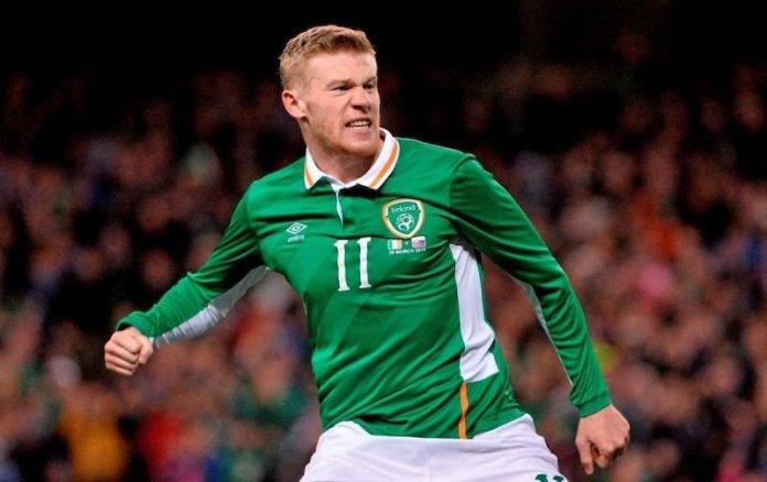 El futbolista James McClean en un partido con Irlanda en 2016