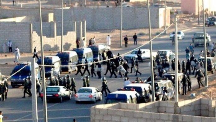 Fuerzas policiales desplegadas en El Aaiún
