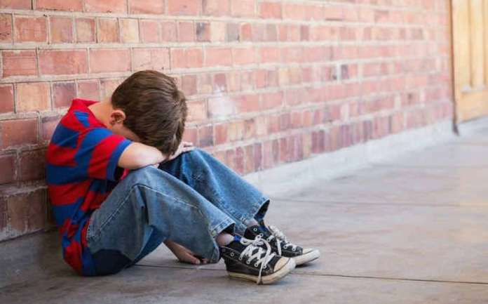 niños tristes