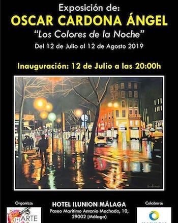 Oscar Cardona Angel expo Málaga