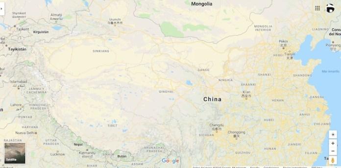 Provincia de Xinjiang en el noroeste de China