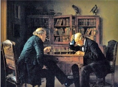 Problema de ajedrez' 1889. Isidor Kaufmann (1853-1921)