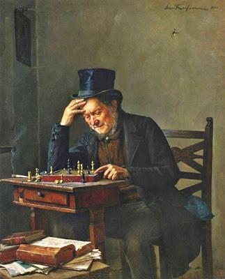 El jugador de ajedrez', 1886. Isidor Kaufmann (1853-1921)