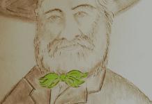 Retrato de Walt Whitman y sus Hojas de Hierba