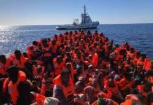 Náufragos rescatados por el Open Arms en el Mediterráneo