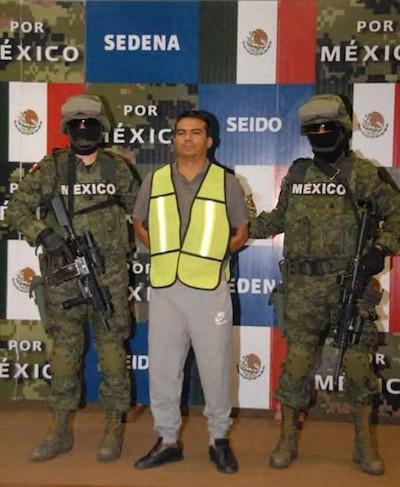Detención de Alfredo Salazar Ramírez. Foto Secretaria de la Defensa Nacional
