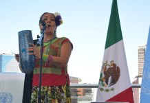 Lila Downs en la sede de la Ofician de la ONU en México