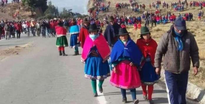 Marcha indígena sobre Quito OCT2019