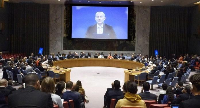 ONU/Loey Felipe El coordinador especial de las Naciones Unidas para el proceso de paz en Oriente Medio,Nickolay Mladenov, dirigiéndose al Consejo de Seguridad a través de videoconferencia desde la ciudad de Jerusalén.
