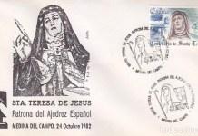 Teresa de Jesus sello 1982 ajedrez