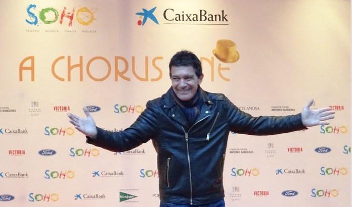 Antonio Banderas en la inauguración del teatro Soho de Málaga, noviembre 2019