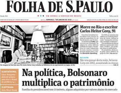 Bolsonaro folha Sao Paulo