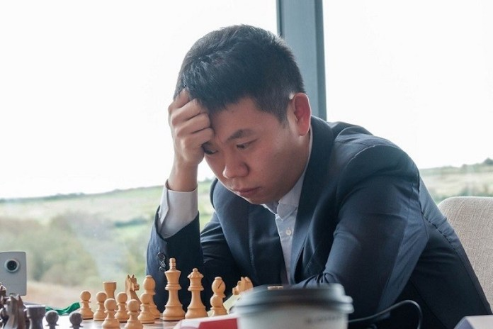 El ajedrecista chino Wang Hao.