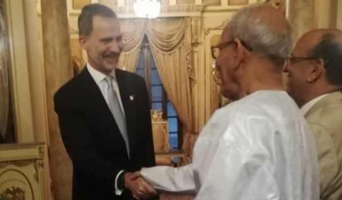 Felipe VI con Brahim Gali en Panamá