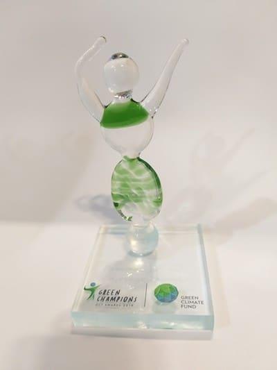 Estatuilla premio Green Champions