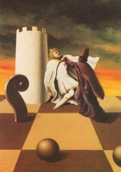 Pintura 'Jaque mate' (1937) de Rene Magritte (1898-1967)