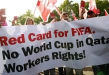 Protesta internacional contra la celebración del Mundial de Fútbol 2022