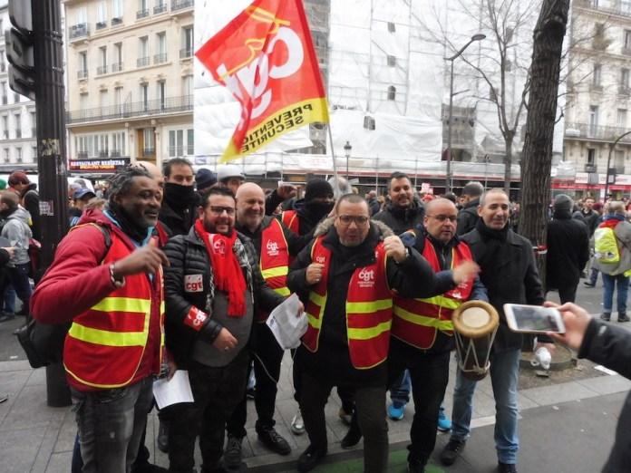 Paris manifestantes de la CGT