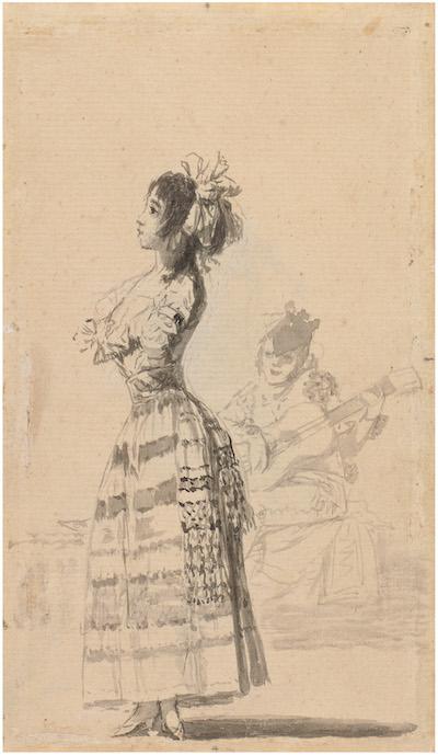 Goya: Joven bailando al son de una guitarra (C. de Sanlúcar)