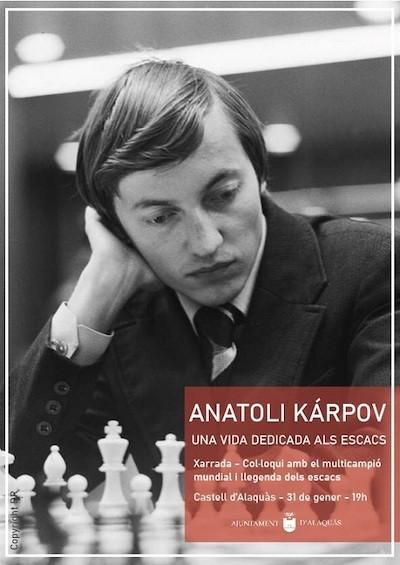 Cartel homenaje a Karpov