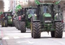 Tractores en las calles de Vitoria