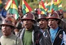 Bolivia protesta minera