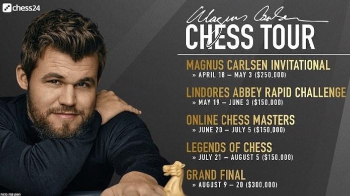 Cartel Magnus Carlsen Chess Tour