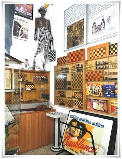 Material del Museo del Ajedrez Italiano