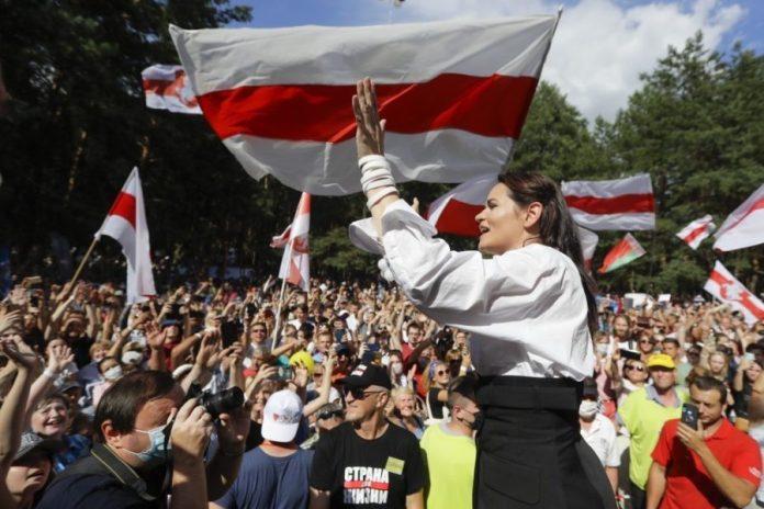 La candidata de la oposición Sviatlana Tsikhanouskaya no reconoce los datos oficiales