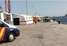 Dispositivo policial desplegado para una llegada inminente de inmigrantes a Canarias